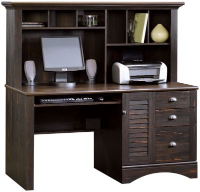 Sauder Harbor View Computer Desk W/ Hutch
