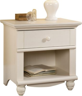Sauder Harbor View White Nightstand