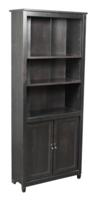 Sauder Edge Water Tall Bookcase with Doors