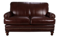 Smith Brothers 346 Collection 100% Leather Loveseat