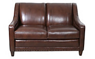 Smith Brothers 233 Collection 100% Leather Loveseat