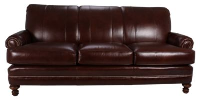 Smith Brothers 346 Collection 100 Leather Sofa