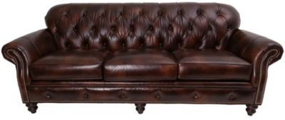 Smith Brothers 396 Collection 100% Leather Sofa