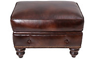 Smith Brothers 396 Collection 100% Leather Ottoman