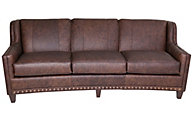 Smith Brothers 227 Collection 100% Leather Sofa