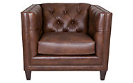 Smith Brothers 243 Collection 100% Leather Chair