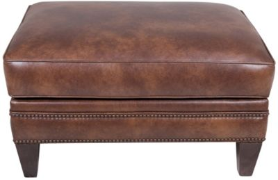 Smith Brothers 243 Collection 100% Leather Ottoman