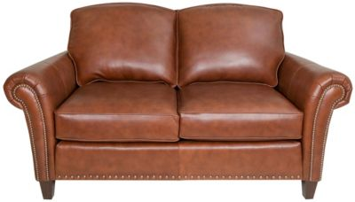 Smith Brothers 246 Collection 100% Leather Loveseat