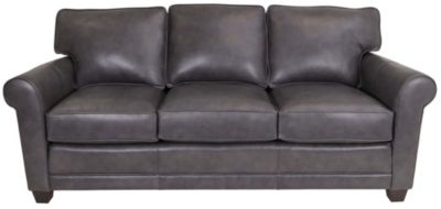 Smith Brothers 366 Collection 100% Leather Sofa