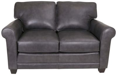 Smith Brothers 366 Collection 100% Leather Loveseat