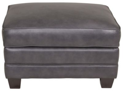 Smith Brothers 366 Collection 100% Leather Ottoman