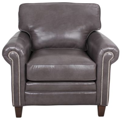Smith Brothers 395 Collection 100% Leather Chair