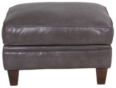 Smith Brothers 395 Collection 100% Leather Ottoman