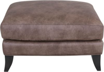 Smith Brothers 256 Collection 100% Leather Ottoman