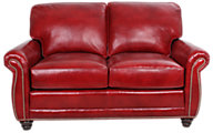 Smith Brothers 302 Collection 100% Leather Loveseat