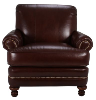 Smith Brothers 346 Collection 100% Leather Chair