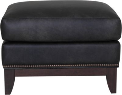 Smith Brothers 258S Collection 100% Leather Ottoman