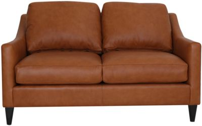 Smith Brothers 261S Collection 100% Leather Loveseat