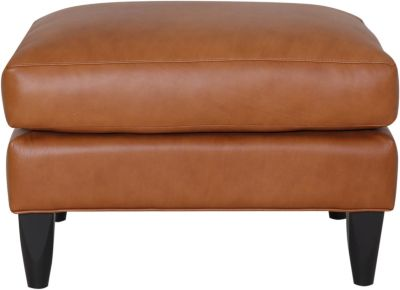 Smith Brothers 261S Collection 100% Leather Ottoman