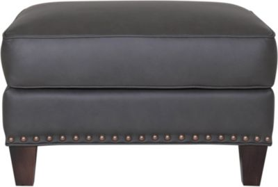 Smith Brothers 228 Collection 100% Leather Ottoman