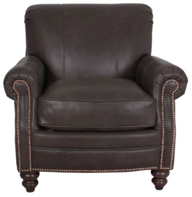 Smith Brothers 383 Collection 100% Leather Chair