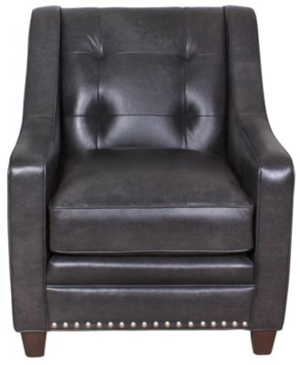 Smith Brothers 203 Collection 100% Leather Chair