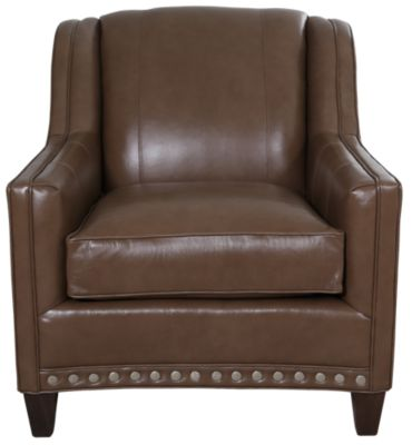 Smith Brothers 227 Collection 100% Leather Chair