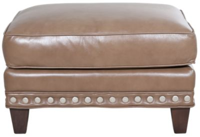 Smith Brothers 227 Collection 100% Leather Ottoman