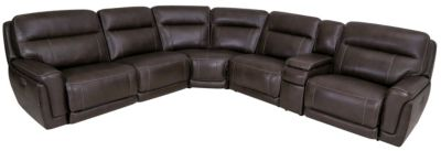 Simon Li Motion Max 6-Pc Leather Power Reclining Sectional