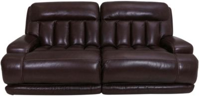 Simon Li M105 Collection Leather Power Recline Sofa