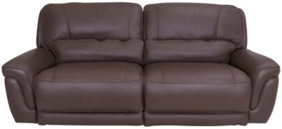 Simon Li M128 Leather Power Recline Sofa