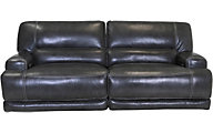 Simon Li M155 Leather Power Recline Sofa