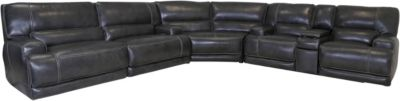 Simon Li M 155 Collection 3-Piece Leather Sectional