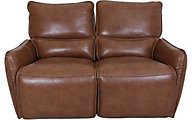 Simon Li M193 Collection Leather Power Reclining Loveseat