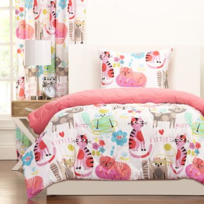Sis Covers Purr-ty Cat 3-Piece Full/Queen Comforter Set