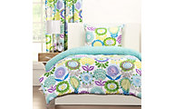 Sis Covers Pointillist Pansy 2-Piece Twin Comforter Set