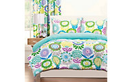 Sis Covers Pointillist Pansy 3-Piece Full/Queen Comforter Set