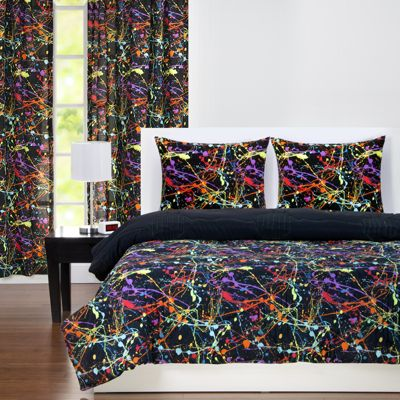 Sis Covers Neon Splat 3-Piece Full Comforter Set