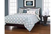 Sis Covers Nolo Turquoise 6-Piece Queen Duvet Set