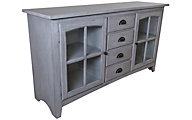 Sunny Designs Vintage Gray 64-Inch TV Console