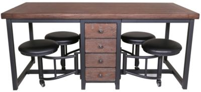 Sunny Designs Metroflex Table with 4 Stools