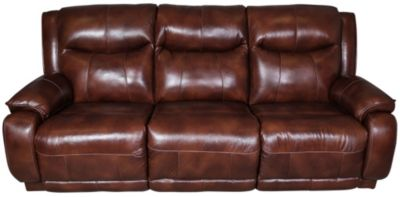 Southern Motion Velocity Leather Reclining Sofa W/Power Headrest