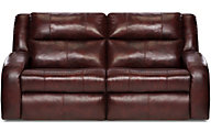Southern Motion Maverick Leather Lay-Flat Reclining Sofa