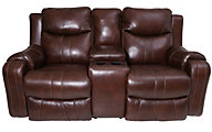 Southern Motion Marvel Leather Power Reclining Console Loveseat