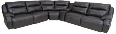 Southern Motion Five Start 6 Piece Leather Reclining Sectional