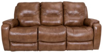 Southern Motion Royal Flush Reclining Leather Sofa