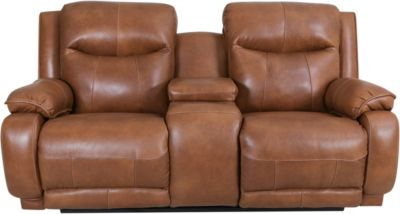 Southern Motion Velocity Leather Power Recline Console Loveseat