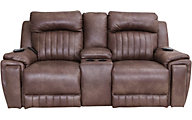 Southern Motion Silver Screen Power Motion Loveseat with Console