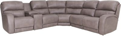 Southern Motion Fandango 6-Piece Leather Power Recline Sectional