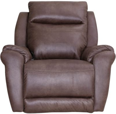 Southern Motion Gold Medal Brown So Cozi Power Headrest Rocker